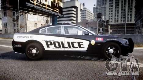 Dodge Charger Alderney Police para GTA 4 left