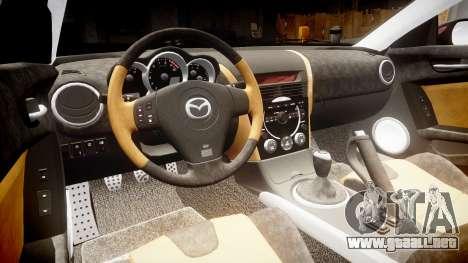 Mazda RX-8 2006 v3.2 Pirelli tires para GTA 4 vista interior
