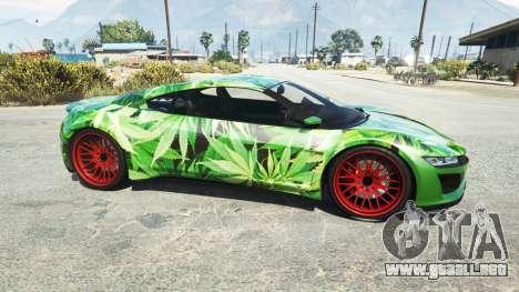 GTA 5 Dinka Jester (Racecar) Cannabis vista lateral izquierda