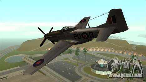 P-51D Mustang para GTA San Andreas left