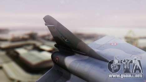 Dassault Mirage 4000 French Air Force para GTA San Andreas vista posterior izquierda