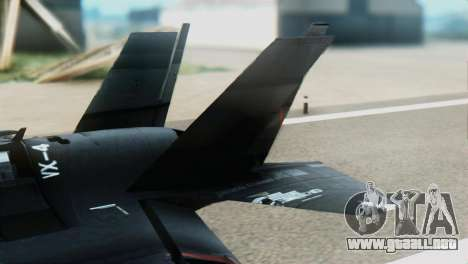 F-35B Polish Air Force 1. ELT para GTA San Andreas vista posterior izquierda