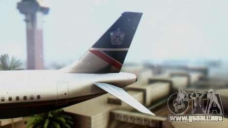 Airbus A320-200 British Airways para GTA San Andreas vista posterior izquierda