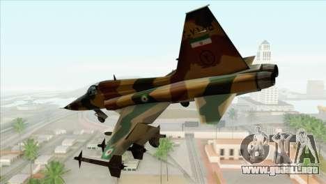 Northrop F-5ES IRIAF para GTA San Andreas left