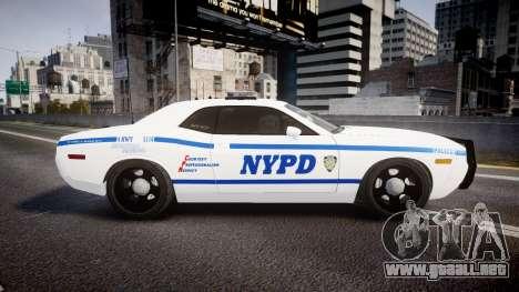 Dodge Challenger NYPD [ELS] para GTA 4 left