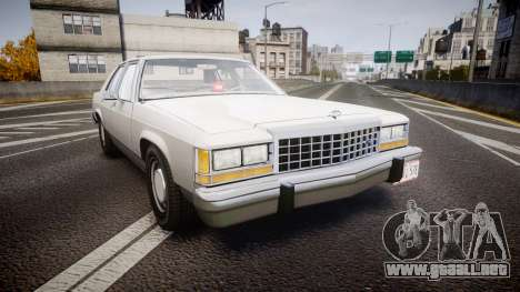 Ford LTD Crown Victoria 1987 Detective [ELS] v2 para GTA 4