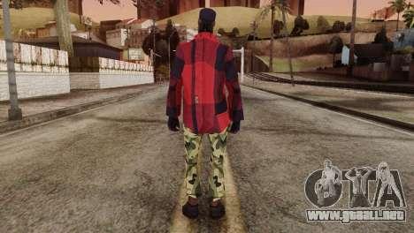 New Homeless Skin para GTA San Andreas segunda pantalla