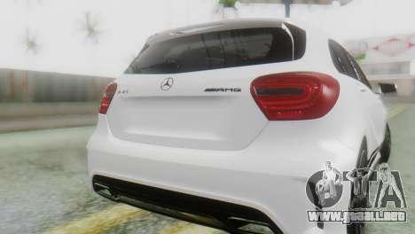 Mercedes-Benz A45 AMG para GTA San Andreas vista hacia atrás