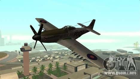 P-51D Mustang para GTA San Andreas