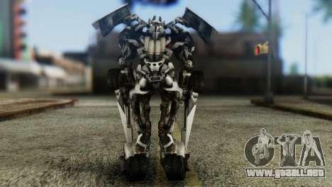 Sideswipe Skin from Transformers v1 para GTA San Andreas tercera pantalla