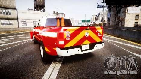 Dodge Ram 3500 2013 Utility [ELS] para GTA 4 Vista posterior izquierda