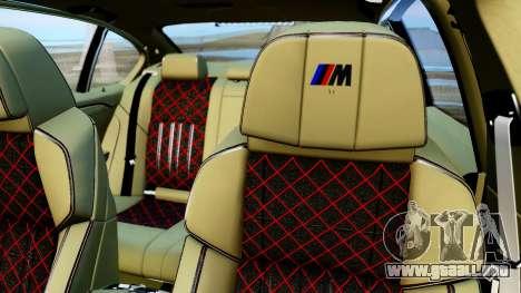 BMW M550d para GTA San Andreas vista hacia atrás