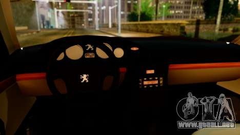Peugeot 406 para GTA San Andreas vista hacia atrás