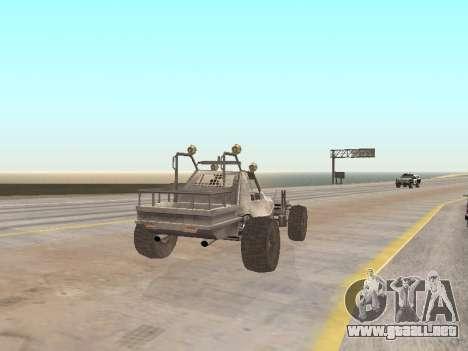 Buggy from Just Cause para GTA San Andreas vista posterior izquierda