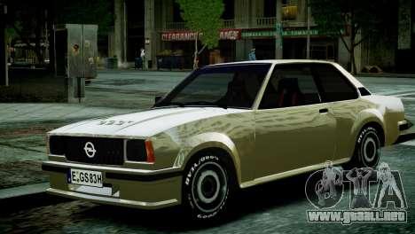 Opel Ascona B para GTA 4 visión correcta