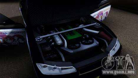 Nissan Silvia S15 K-on Itasha para GTA San Andreas vista hacia atrás