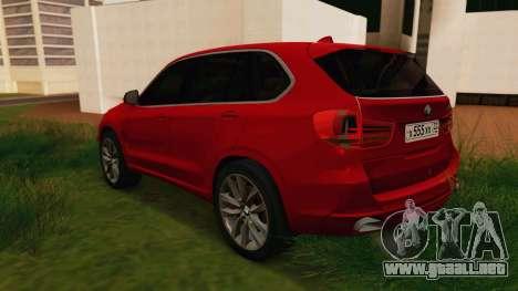 BMW X5 F15 2014 para GTA San Andreas vista posterior izquierda