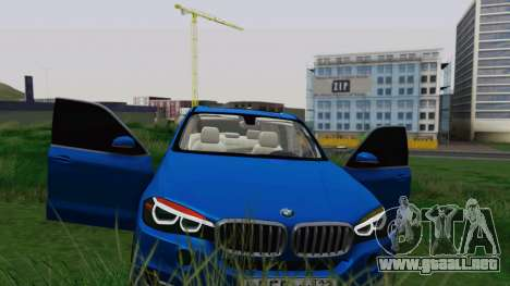 BMW X5 F15 2014 para vista inferior GTA San Andreas