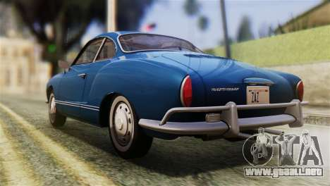 Volkswagen Karmann-Ghia Coupe (Typ 14) 1955 HQLM para GTA San Andreas left
