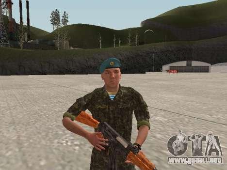 El aire de soldado de Ucrania para GTA San Andreas segunda pantalla