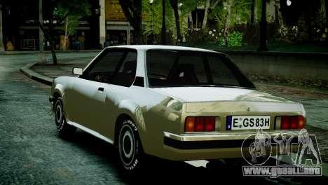 Opel Ascona B para GTA 4 Vista posterior izquierda