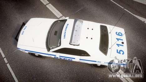 Dodge Challenger NYPD [ELS] para GTA 4 visión correcta