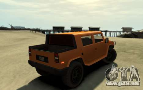 Mammoth Patriot Pickup v2 para GTA 4 left