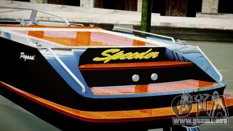 Speeder from GTA 5 para GTA 4 Vista posterior izquierda