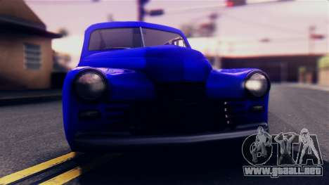 GAS 20M de la Victoria para GTA San Andreas vista posterior izquierda