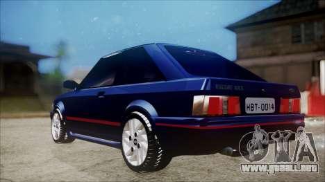Ford Escort para GTA San Andreas vista posterior izquierda