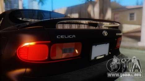 Toyota Celica para GTA San Andreas vista hacia atrás