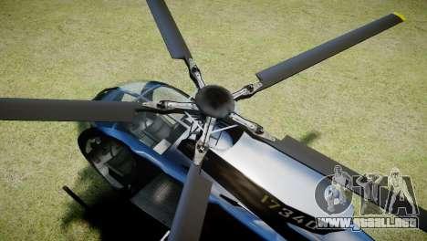 Buzzard from GTA 5 para GTA 4 vista hacia atrás