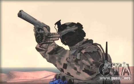 BF3 Soldier para GTA San Andreas tercera pantalla
