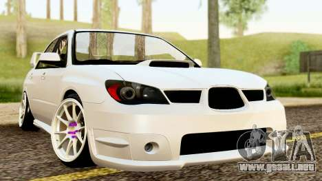 Subaru Impreza WRX STI Stance para la visión correcta GTA San Andreas