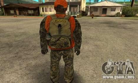 Job Man para GTA San Andreas sucesivamente de pantalla
