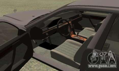 Mercedes-Benz W124 E200 para la visión correcta GTA San Andreas