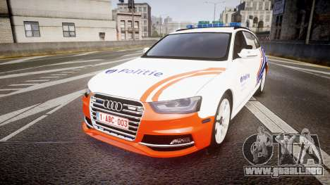 Audi S4 Avant Belgian Police [ELS] orange para GTA 4