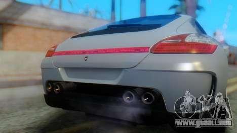 Porsche Panamera Turbo para GTA San Andreas vista hacia atrás