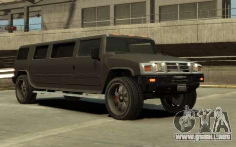 Mammoth Patriot Limousine para GTA 4