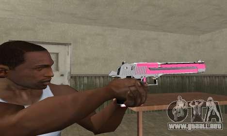 Pink Deagle para GTA San Andreas segunda pantalla