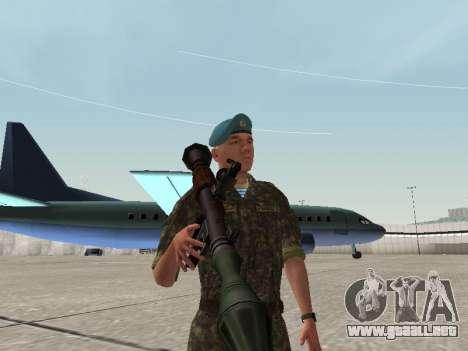 El aire de soldado de Ucrania para GTA San Andreas sucesivamente de pantalla