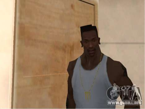 Цепь Monster Energy para GTA San Andreas segunda pantalla