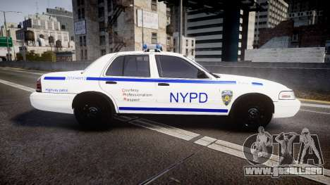 Ford Crown Victoria NYPD [ELS] para GTA 4 left