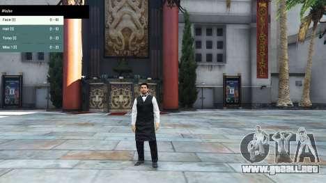 El menú de caracteres para GTA 5