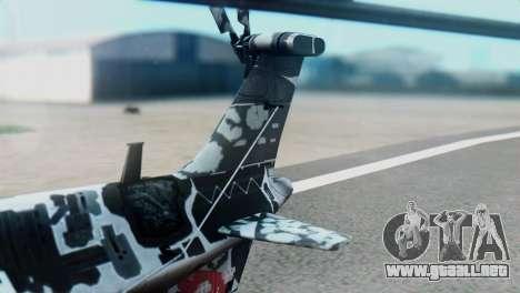 Changhe WZ-10 para GTA San Andreas vista posterior izquierda