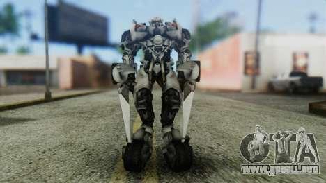 Sideswipe Skin from Transformers v1 para GTA San Andreas segunda pantalla