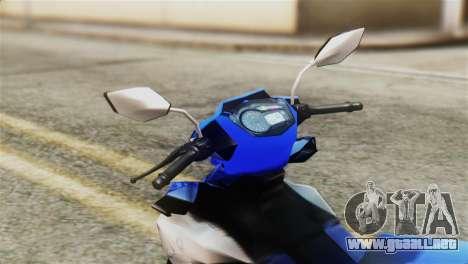 Yamaha MX KING 150 para la visión correcta GTA San Andreas