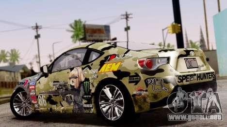 Toyota GT86 (ZN6) 2012 PJ para visión interna GTA San Andreas