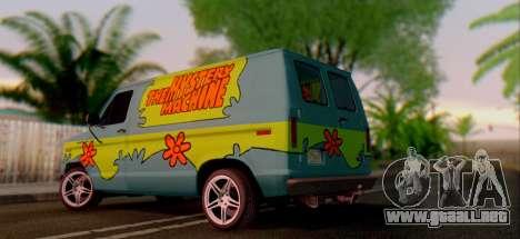 Ford E-150 Scooby Doo para la visión correcta GTA San Andreas