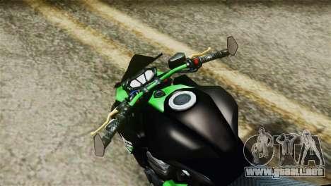 Kawasaki Z800 Modified para la visión correcta GTA San Andreas